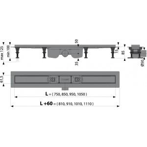 Душевой канал Alcaplast APZ12-750