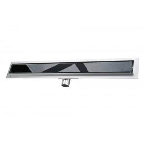 Душевой канал Fedo с решеткой Black Glass 100 см BG1000705