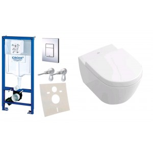 Комплект инсталляция Grohe Rapid SL 38772001 с унитазом Villeroy and Boch Subway 2.0 DirectFlush 5614R001 Soft-Close