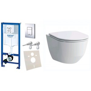 Комплект инсталляция Grohe Rapid SL 38772001 с унитазом Laufen Pro Rimless H8209660000001 Soft-Close