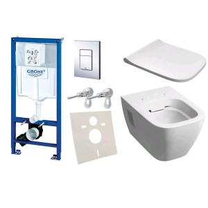 Комплект инсталляция Grohe Rapid SL 38772001 с унитазом Kolo Modo Rimfree L33120000 Soft-Close