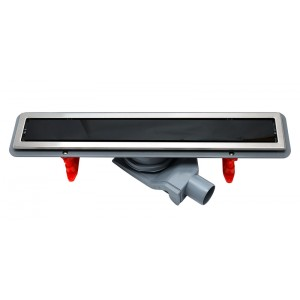 Душевой канал Pestan Confluo Premium Line с решеткой из стекла Black Glass 550 мм 13000292